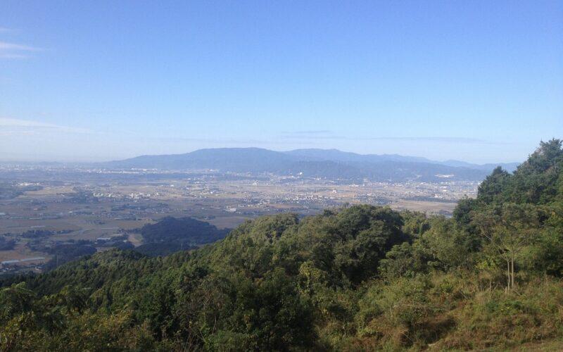 目配山(山頂可眺望一望無際的筑前町平野)